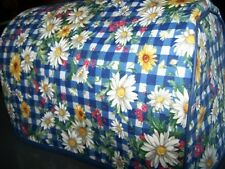 Spring Daisy Gingham Quilted Fabric 2-Slice or 4-Slice Toaster Cover NEW