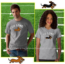 DACHSHUND GO LONG T-SHIRT / LADIES AND MEN'S FIT STYLES