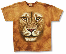 """THE MOUNTAIN """"LION"""" DARK TAN GOLD TIE DYE T-SHIRT NEW OFFICIAL YOUTH KIDS CAT"""