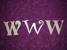 Letter W Unfinished Wood Letters Cut Out 6 inch Paintable,Stainable