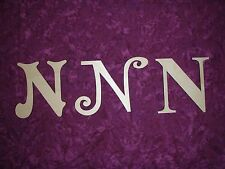 Unfinished Wood Letter N Wooden Letter Cut Out 6 inch Paintable,Stainable