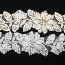 Embroidery Venise Trim Lace 109- Hair Accessories Headband Applique Motif Bridal