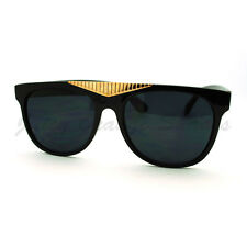 Fancy Gold Triangle Flat Top Sunglasses Hot Celebrity Fashion