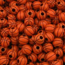 Z99 New Basketball Charms Acrylic Team Sport Beads 12mm Fit Team Jewelry Making