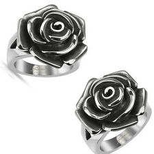 1 Pc 316L surgical steel rose lady's fashion case band ring Fr sz5 to sz9