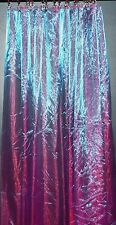 CD15 (2 Panels) Red Purple Fine Sheer Sparkle Organza Curtains*Custom Made*