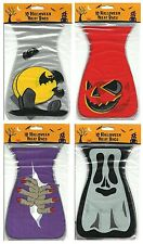 10 x Halloween Loot Party Bags - Fancy Dress Trick Treat Accessory - 4 Designs