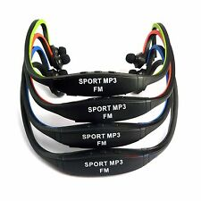 New Sports MP3 Player Wireless Headset  Micro SD TF Card support to 8G FM Radio
