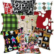 Life Style Checker Print Cotton Canvas Cushion Cover/Pillow Case*Custom Size