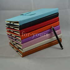 """Colorful Folio PU Leather Case Cover+Stylus For 7"""" Kobo Arc 7/Arc 7 HD Tablet PC"""