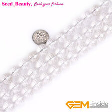 Jewelry Making Fashion white round faceted rock quartz Gemstone beads 15""