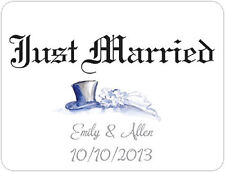Personalized JUST MARRIED Custom Car Magnets WEDDING SIGN Banner