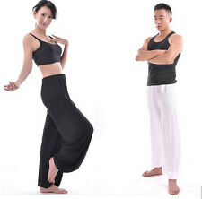 Men/Womens Bamboo Fabric Wide Leg Clothes Soft Yoga Wear Bloomers Sports Pants