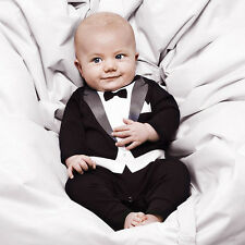 1pc Kid Baby Boy Cotton Gentleman Romper Jumpsuit Bodysuit Clothes Outfit 6-24M