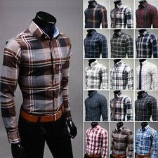 New Mens Luxury Stylish Casual Dress Slim Fit Shirts 19Colours 5Size H7777