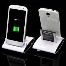 Dual OTG USB Sync Battery Charger Dock Holder F SAMSUNG Galaxy S3 i9300 S4 I9500