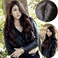 Womens Full Long Curly Wavy Hair Wigs Cosplay Party Weave Skin Top Bang Wig