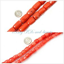 """jewelry making pink column coral gemstone beads strand 15"""" seed-beauty"""