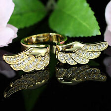 Angel Wing Gold Plate Ring use Swarovski Crystal SR096