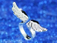 Angel Wing Ring use Swarovski Crystal Size SR066