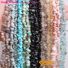 Jewelery Making  Fashion 7-8mm freeform chips gemstone beads strand 34""