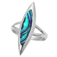ABALONE SHELL   .925 Sterling Silver Ring SIZES 6-9