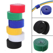 "1""/25mm Roll 3.28FT/1M Reusable Sew Velcro Cable Tie Wrap Cord Straps Hook Loop"