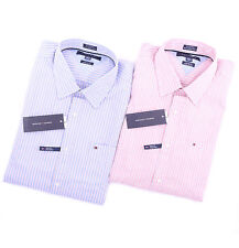 Tommy Hilfiger Men Long Sleeve Button Down Stripe Casual Shirt -Free $0 Shipping
