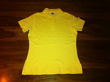 Ladies Fruit of the Loom Lady fit Pique Polo. Light Gold. 5 sizes. D28.