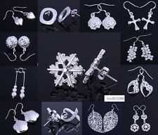 wholesale Fashion Jewelry solid 925Silver earrings+gift box
