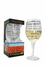 GIANT WINE GLASS PRINTED WITH HOW TO ORDER IN FOREIGN LANGUAGES CHRISTMAS GIFT