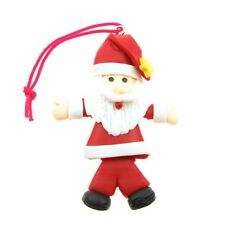 Fimo Christmas Charm / Tree Decorations, Santa Claus, Father Christmas, 2 Pack