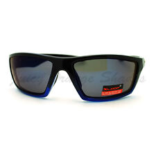 Xloop Mens Sunglasses Sporty Rectangular Wrap Around Miiror Lens UV 400