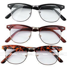 Retro Vintage Unisex  Mens Womens Clear Lens Trendy Rock Eyewear Glasses Leopard