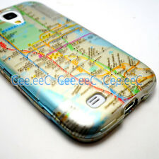 For Samsung Galaxy S4 i9500/i9505 New York City Subway Map Hard Cover Case Skin