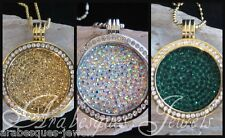 1x LARGE COIN/MONEDA ONLY FOR MI MILANO NECKLACE/PENDANT/CARRIER/GENUINE CRYSTAL