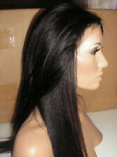 "8""-22"" Yaki Straight Lace Front Wig -100% Remy Human Hair 1#1b#2#4#1b/30# cheap"