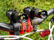 2 x Ultrafire MINI CREE XML-T6 torch bike lights head light set + rear LED
