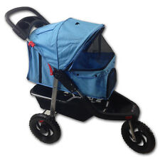 Red  Pink Blue Pet Jogger Jogging Dog Cat Stroller Carrier All Terrain 3 Wheel