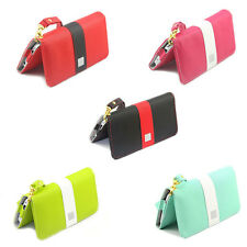 Purse Wallet Leather Skin Case Cover For Samsung Galaxy S3 S4 Mini HTC One X