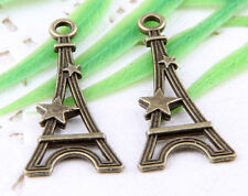 Wholesale 40/90Pcs Bronze Plated (Lead-Free)Tower Charms Pendant 29x13mm