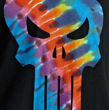 MARVEL COMICS THE PUNISHER TIE-DYE LOGO ADULT MENS T-SHIRT BNWT NEW