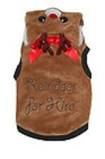 Bargin PET LONDON REINDEER FOR HIRE CHRISTMAS DOG PUPPY COAT COSTUME FANCY DRESS