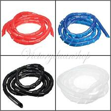1/2/5/10M Spiral Wire Wrap Tube Manage Cord for PC Computer Cinema Home Cable