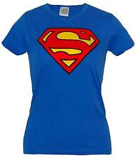 Superman: Official DC Comics Classic Logo Ladies Skinny T-Shirt - New & Sealed