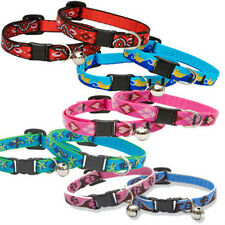 Lupine Safety Cat Collar Breakaway Cat Collar With or Without  Bell All Patterns