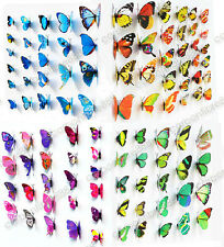 Art Mural Papillon 3D decal stickers aimant murale décoration 12pcs 48pcs