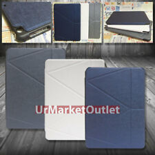 PU Syn Leather Cover Case w/Magnetic Cover Lock Multi-Angle For Apple iPad 5 Air
