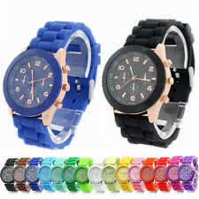 Unisex Geneva Fashion Silicone Quartz Men Women Jelly Wrist Casual Sports Watch