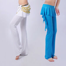END OF YEAR ON SALE belly dance pants attach skirt yoga trousers